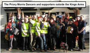 St Osyth Morris Dancers Outside Kings Arms.
